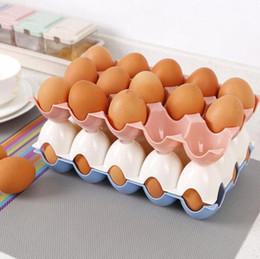 $enCountryForm.capitalKeyWord Australia - Kitchen Egg Storage Box Organizer Refrigerator Storing Egg 15 Grids Eggs Organizer Container Storage Egg Racks Shelf
