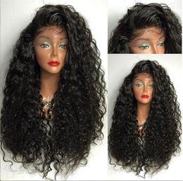 Discount silky braiding hair - Virgin Brazilian Hair Glueless Front Lace Wigs Brazilian Deep Wave Human Hair Braiding Full Lace Wig Fast Delivery