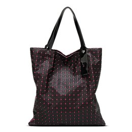 Diamond Lattice Women Geometry Bag Silica Gel Folding Over Handbag Women Bag  Totes Shoulder Bags 2de1eacd3a05b