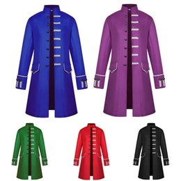 White Tail Cosplay Australia - Men Party Cosplay Steampunk Gothic Victorian Coat Jacket Retro Tail Medieval Pop
