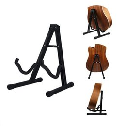 tripod electric Australia - Folding Tripod Stand holder Acoustic Guitar Electric Bass Black Fits acoustic and electric guitars