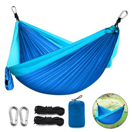 swing beds Australia - Camping Hammock Outdoor Garden Portable Double Hanging Bed Swing Chair 260X140CM