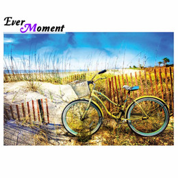 $enCountryForm.capitalKeyWord Australia - wholesale Diamond Painting Cross Stitch 5D DIY Bicycle Scenery Picture Of Rhinestone Diamond Embroidery Mosaic Decor S2F1971