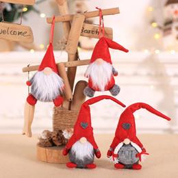 $enCountryForm.capitalKeyWord Australia - Christmas Handmade Swedish Gnome Santa Plush Doll Ornaments Hanging Xmas Tree Toy Holiday Home Party Decor Kids Gift