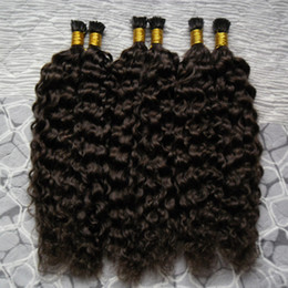"ombre fusion hair extensions Australia - Brazilian virgin Kinky curly 10""-24"" Fusion Hair Extensions 1g S Fusion Keration I Tip 100% Real Human Hair Extensions 300g"