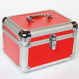 Cosmetic Bags Locks Australia - Cosmetic Make Up Bag Holder New Fashion Travel Professional Makeup Organizer Case Quality Key Coded Lock Storage Box Jewelry