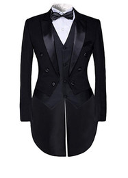 China Mens Steampunk Vintage Suit Tailcoat Black Jacket Evening Tails Fashion 3 Piece Tuxedo Tails Includes Tailcoat Vest Trouser suppliers