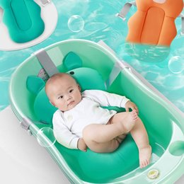 infant portable beds Australia - Newborn Portable Pig Bear Shape Safety Security Bath Seat Support Air Cushion Bed Infant Baby Bath Pad Non-Slip Bathtub Mat