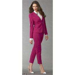 $enCountryForm.capitalKeyWord NZ - Fuchsia Women Business Suits Formal Office Suits Work Female Trouser Custom made Bespoke New 100%