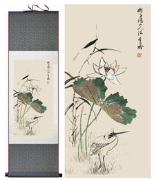 Art Canvas Prints Australia - Lotus Flower Traditional Chinese Art Painting Chinese Ink Painting Flower Pictureprinted Painting2019061540