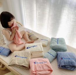Wash Towels Australia - C Letter Shower Towels 5 Colors Letter Printed Bath Towel Super Soft Face Towel Spa Body Wraps Travel Camping Towels Wash Towels OOA6932