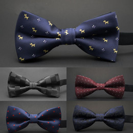 silk polyester NZ - GUSLESON NEW Dot Bow Tie Wedding Bowtie Noeud Papillon Boys & Girls Polyester Silk Pajaritas Cravat Bowties Female Male Neckwear