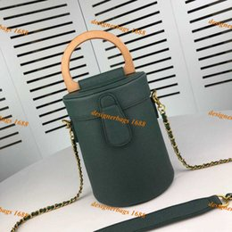 luxury designer bag leather Australia - 2019 new fashion women designer handbags chain crossbody bag genuine leather mini bucket bags luxury shoulder coin pruse tote 18cm