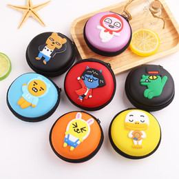 Colorful Modern Bedding NZ - Storage Box 1PC Travel Storage Bag For Earphone Coin Holder Headphone Case Colorful Container Case Cartoon Headphone Protective