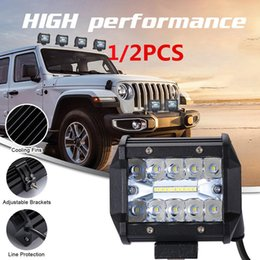 Truck led headlighTs online shopping - 200W LED Rows Work Light Bar Driving Lamp Motorcycle Headlight for Truck Tractor Boat Trailer