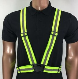 safety strips NZ - Safety Clothing Reflective 3M Fabric Material Strip Tap Band Vest Jacket Sports Outdoor Gear Wholesale
