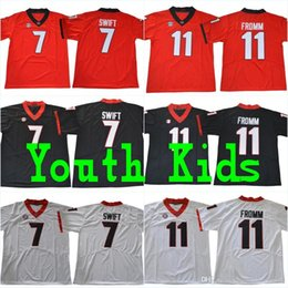 7ed6219d1 Youth UGA  7 D Andre Swift Kids  11 Jake Fromm  1 Sony Michel  27 Nick Chubb   10 Eason UGA Bulldogs Stitched College Football Jerseys