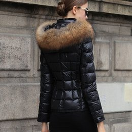 Winter Women Jackets France Luxury down jacket Winter Coat Outerwear Down Coats Slim Parkas Raccoon Fur Collar Down Jacket Warm Winter Coats on Sale