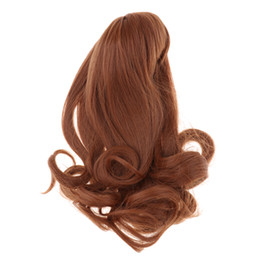 China Stylish Curly Hair Wig Long Hairpiece For Sharon Doll for Dollfie 16inch Girl Doll Hairstyle Custom Making Accessory Brown suppliers