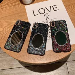 $enCountryForm.capitalKeyWord Australia - fashion luxury diamond cellphone mirror case for iphone 8 7 glitter make up mirror cover for iphone x xs xr max 8 7 plus as nice gift