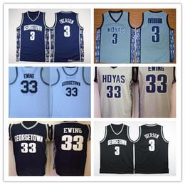 890ac644e303 NCAA Mens Georgetown Hoyas Iverson College Jersey Cheap 3 Iverson 33  Patrick Ewing University Basketball Shirt Good Stitched Jersey