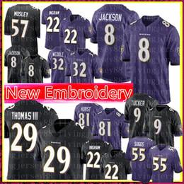4486a2365b4 Baltimore 8 Ravens Lamar Jackson 29 Earl Thomas 9 Justin Tucker Jersey Mens  55 Terrell Suggs 22 Mark Ingram 5 Joe Flacco 32 Weddle Football