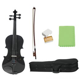 ebony case UK - 1 8 Kids Children Natural Acoustic Fiddle with Strings Case Bow Rosin Musical Instrument Gifts 1 8 Kids Children Natural Acoustic Violin Fid