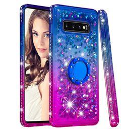 Rhinestone Note Cases Australia - Glitter Phone Case For Samsung Galaxy A70 A50 A40S M30 M20 Liquid Quicksand Case Cover for Samsung S10 S9 Note 9 Rhinestone Case with holder