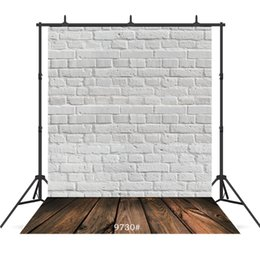 background paintings UK - white board wooden floor Vinyl photography background for portrait children baby shower new born backdrop photocall photo studio