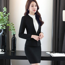 $enCountryForm.capitalKeyWord Australia - Women Business Long Sleeve Fashion Elegant Office Ladies Suit Simple And Slim Pants For Female Blazers & Suits Q190521