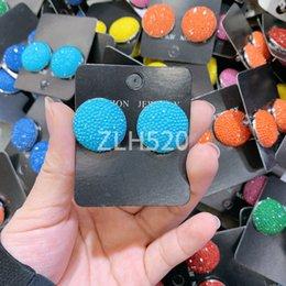 Großhandel DIY handgemachte Temperament Joker Ohrringe Strass Ohrringe Korean süß und schön weiblichen Stil