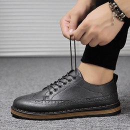 $enCountryForm.capitalKeyWord Canada - 2018 new European and American style suit business shoes men's Korean version of the Brock men's shoes tide models wild breathable fashion c