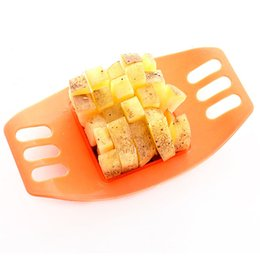 potato fries cutter UK - Potato Cutting Device Cut Fries Potatoes Cut Manual Potato Cutter Kitchen Tools Vegetable Fruit Slicer Mixed Colors