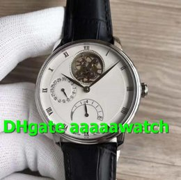 leather strap watch white men Australia - Top Luxury Watch Villeret 6025-1542-55B Stainless Steel Tourbillon Power Reserve JB White Dial Leather Strap A. Cal 25 Movement Men Watch