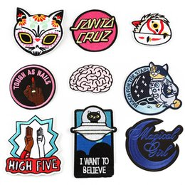$enCountryForm.capitalKeyWord Australia - 10pcs DIY Patch Alien English alphabet Iron on Patches For Clothes Stickers Cheap Embroidered Patches Applique Clothe Badge