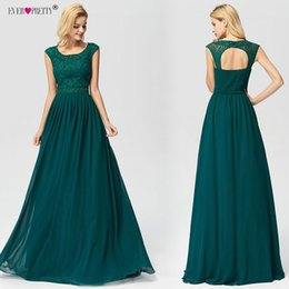 $enCountryForm.capitalKeyWord Australia - Prom Dresses 2019 Ever Pretty Ez07755 New A-line Lace Dark Green Sleeveless Backless Sexy Long Party Gowns For Wedding Guest J190613