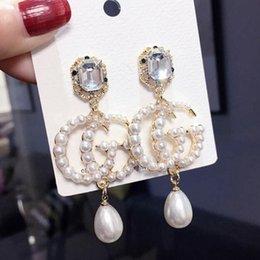 Nuevo diseñador de marca Stud Earring Letters Ear Stud Earring Joyería oro plata oro Regalo de boda de las mujeres Envío gratis 6724 en venta