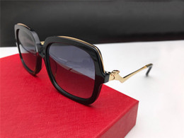 Chinese  New Luxury Designer Sunglasses 01892 Plank Square Frame Glasses Women Classic Simple and Elegant Eyewear UV400 Protection Come with box manufacturers