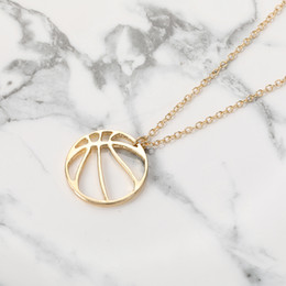 $enCountryForm.capitalKeyWord Australia - 10pcs Origami Ball Round Circle Pendant Charm Necklace Simple Basketball Football Volleyball Jewelry Necklace Gift for Friends