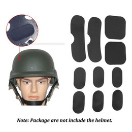 Helmet Hook online shopping - 19pcs Helmet Pads EVA Non toxic Protective Cushion Replacement Pads For Fast Helmets With Hook And Loop Fastener22