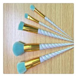Pinceles de maquillaje Set 5 x facial profesional de atención cosmética ruborizan maquillaje cepillos del Eyeliner de la ceja cepillos Fundación Establece Kits de Herramientas en venta