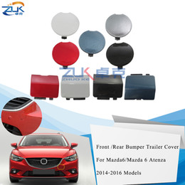 ZUK Front   Rear Bumper Towing Hook Cover Lid Silver Blue Red White For Mazda 6 For Atenza 2013-2016 on Sale