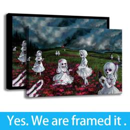 $enCountryForm.capitalKeyWord Australia - Girl Art Background Wall Decor Painting HD Print Dolls Zombies on Canvas Framed - Ready To Hang - Framed