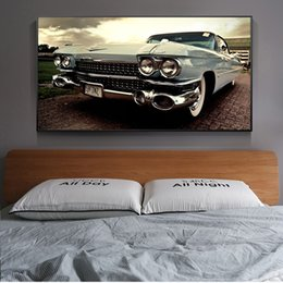 vintage art print canvas UK - Vintage Classical Car Wall Posters And Prints Realist Classic Cars Wall Art for Living Room Home Decor (No Frame)