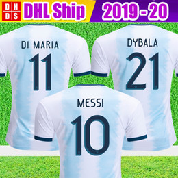 Wholesale DHL Argentina Soccer Jerseys Argentina Home soccer Shirt MESSI AGUERO DYBALA DI MARIA football uniform
