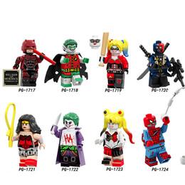 $enCountryForm.capitalKeyWord Australia - Building Blocks Daredevil Zombie Robin Deathstroke Wonder Woman Harley Quinn Figures Collection For Children Toys PG8196