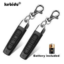 Discount gate openers Controls kebidu 433MHZ Remote Control 4 Channe Garage Gate Door Opener Remote Control Duplicator Clone Cloning Code Car