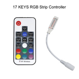 Wholesale RGB 17 keys mini RF wireless led RGB remote controller with 4pin female to control led strip SMD 5050 SMD 2835