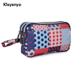 Canvas Zippers Australia - Fashion Women Wallet Canvas 3 - Layer Zipper Large Capacity Day Clutch Coin Purse For Cellphone Monederos Para Mujer Cremallera