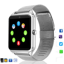 $enCountryForm.capitalKeyWord Australia - Smart wearable device Z60 smart Bluetooth watch stainless steel support SIM card TF card camera fitness tracker smart sports watch for IOS A